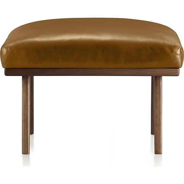 Cavett Leather Ottoman