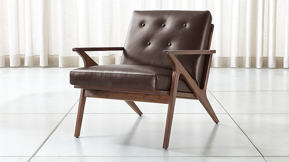 Cavett Leather Tufted Chair - Image 1 of 8
