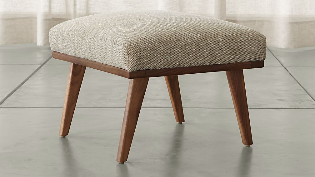cavett ottoman crate and barrel. Black Bedroom Furniture Sets. Home Design Ideas