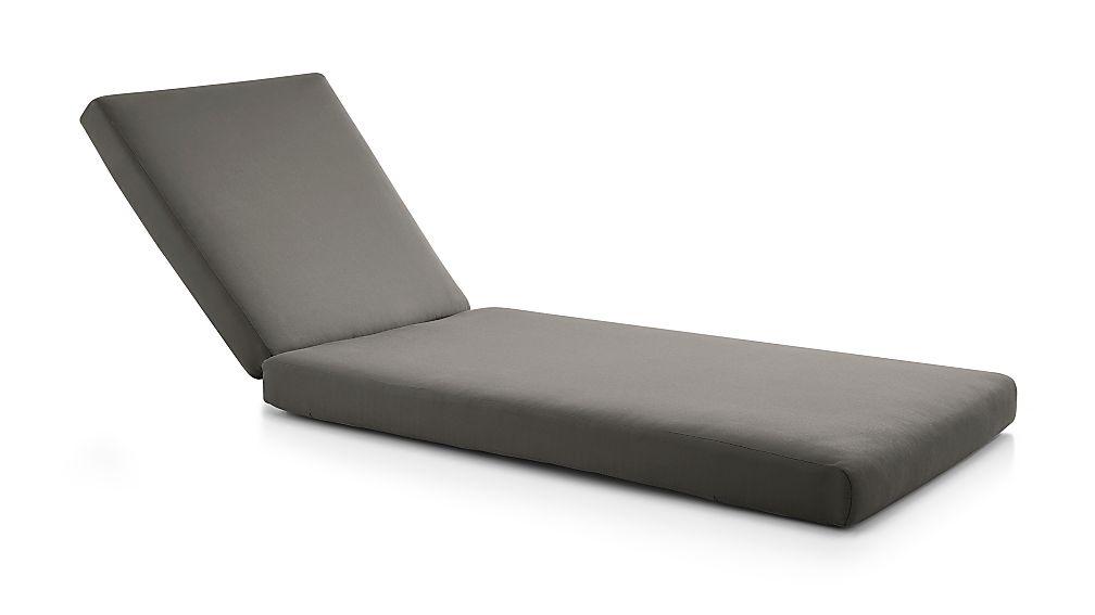 Cayman Graphite Sunbrella ® Chaise Lounge Cushion - Image 1 of 2