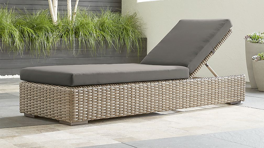 Cayman Outdoor Chaise Lounge with Graphite Sunbrella ® Cushion - Image 1 of 6