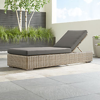 Cayman Outdoor Chaise Lounge With Graphite Sunbrella Cushion