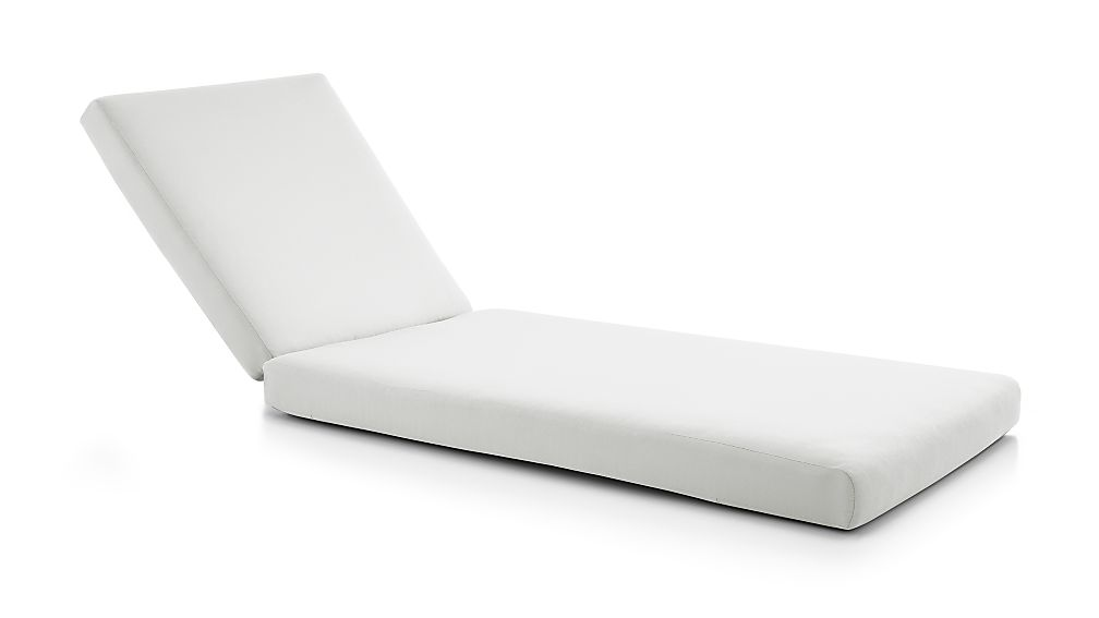 Cayman White Sand Sunbrella ® Chaise Lounge Cushion - Image 1 of 2
