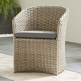 Cayman Outdoor Dining Chair With Graphite Sunbrella Cushion