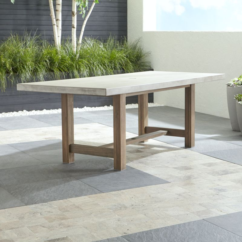 Cayman Dining Table - Outdoor Patio Dining Furniture Crate And Barrel