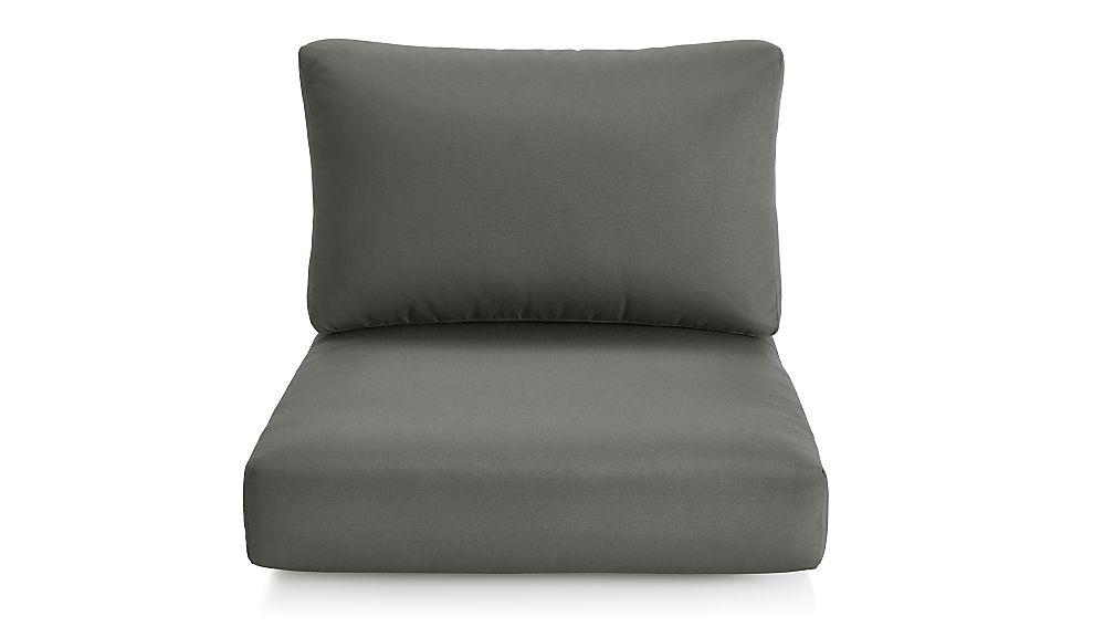 Cayman Graphite Sunbrella ® Lounge Chair Cushions - Image 1 of 2