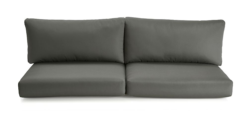 Cayman Graphite Sunbrella ® Sofa Cushions - Image 1 of 1