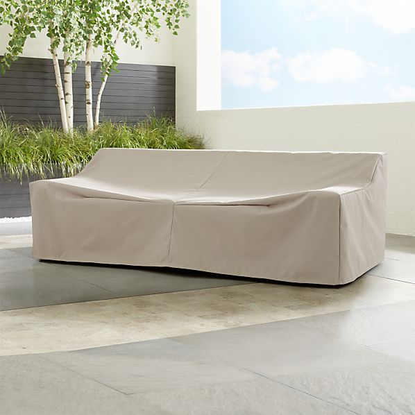 Cayman Outdoor Sofa Cover | Crate and Barrel