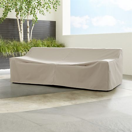 Cayman Outdoor Sofa Cover + Reviews | Crate and Barrel