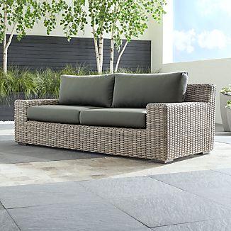Cayman Outdoor Sofa With Sunbrella ® Cushions