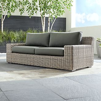 Cayman Outdoor Sofa With Sunbrella ® Cushions