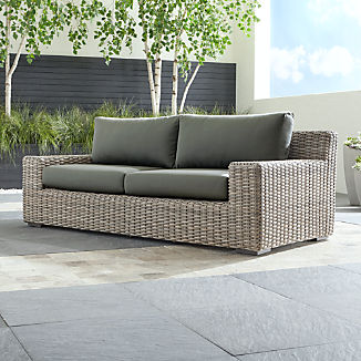 Cayman Outdoor Sofa with Graphite Sunbrella ® Cushions