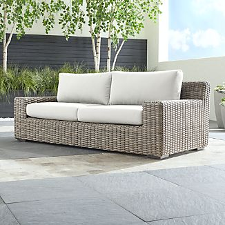 Cayman Outdoor Sofa With Sunbrella Cushions