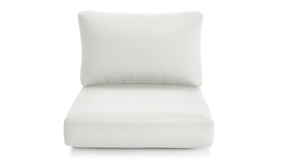 Cayman White Sand Sunbrella ® Lounge Chair Cushions - Image 1 of 2