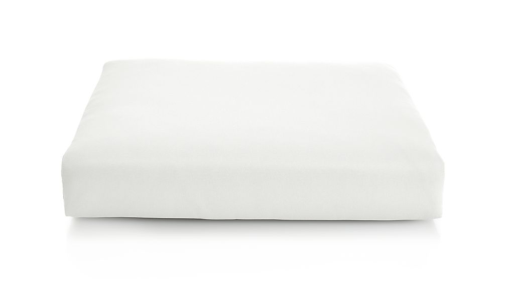 Cayman White Sand Sunbrella ® Ottoman Cushion - Image 1 of 1