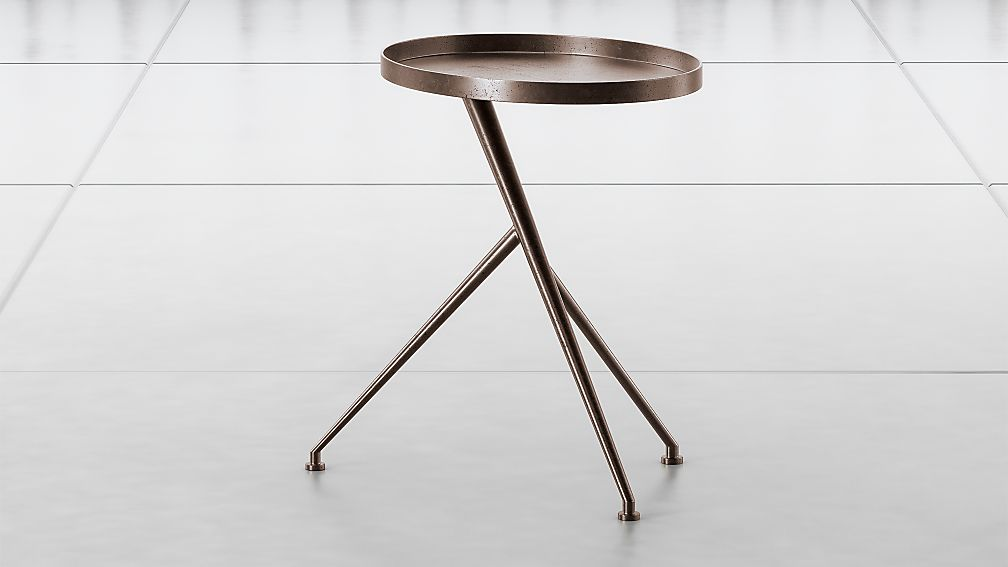 Cecilia Antique Rust Metal Accent Table - Image 1 of 6