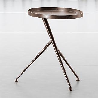 Cecilia Antique Rust Metal Accent Table