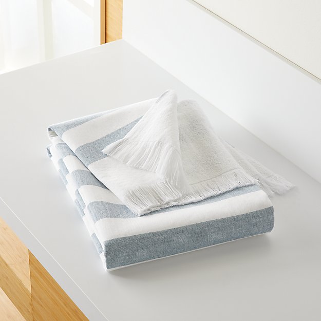 Cedros Blue Hammam Bath Towel - Image 1 of 2