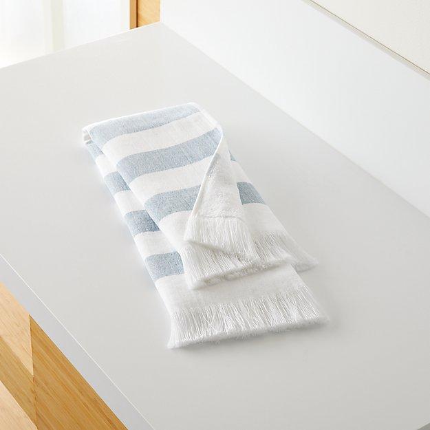 Cedros Blue Hammam Hand Towel - Image 1 of 10