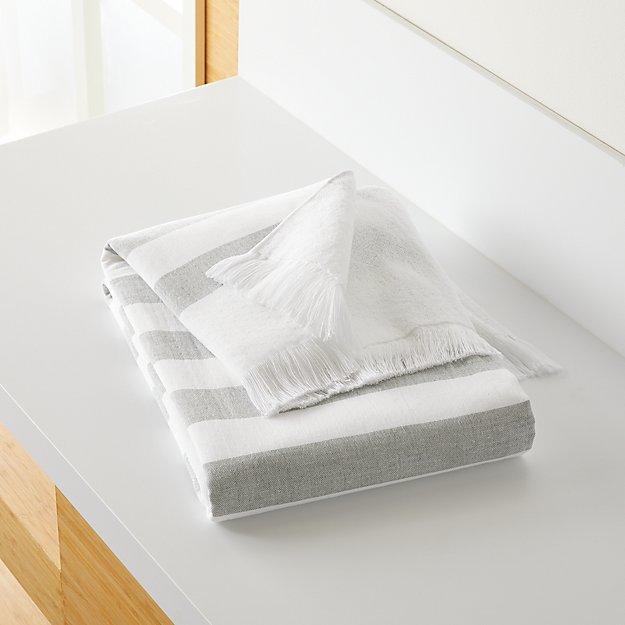 Cedros Grey Hammam Bath Towel - Image 1 of 5