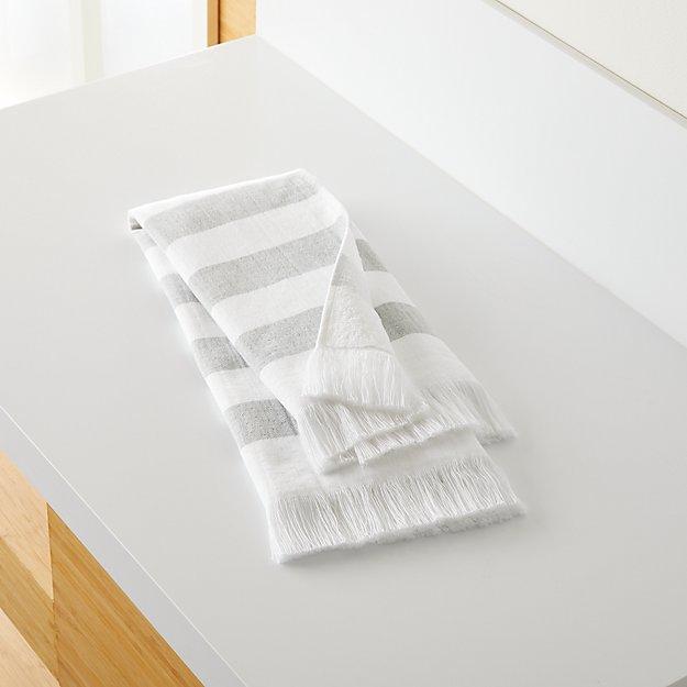 Cedros Grey Hammam Hand Towel - Image 1 of 5