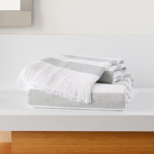 Cedros Grey Hammam Bath Towels - Image 1 of 3