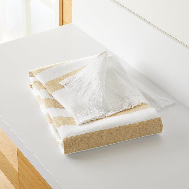 Cedros Yellow Hammam Bath Towel - Image 1 of 5