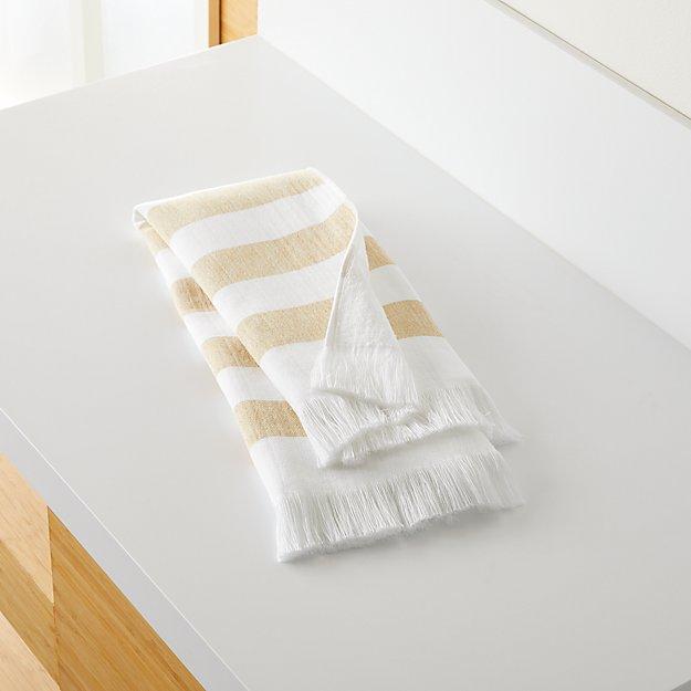 Cedros Yellow Hammam Hand Towel - Image 1 of 5