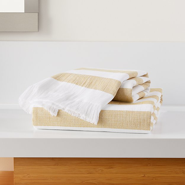 Cedros Yellow Hammam Bath Towels - Image 1 of 3