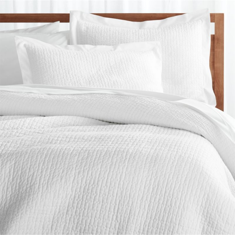 Celeste White Duvet Covers and Pillow Shams | Crate and Barrel