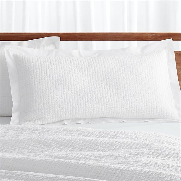 Celeste King White Pillow Sham Reviews Crate And Barrel