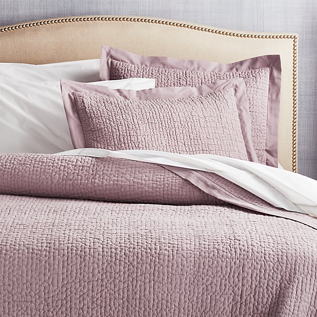 Celeste Lavender Solid Quilts and Pillow Shams - Image 1 of 4