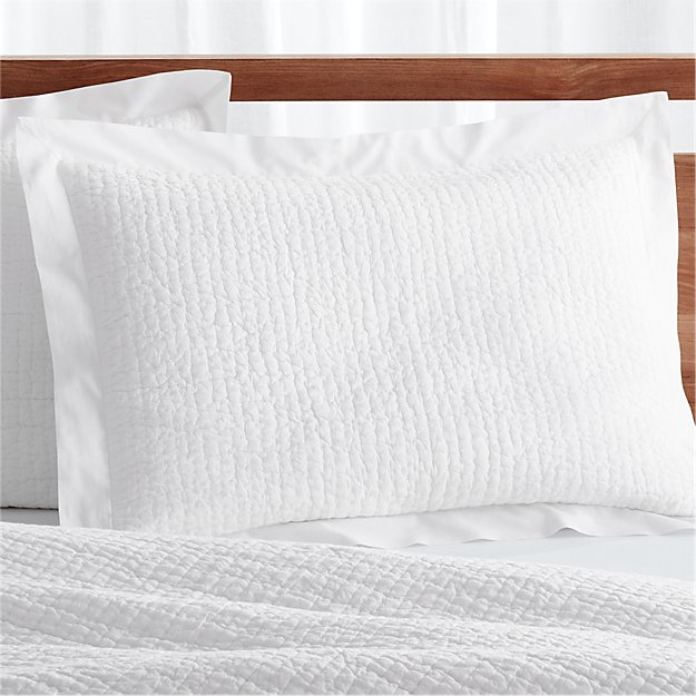celeste standard white pillow sham reviews crate and barrel