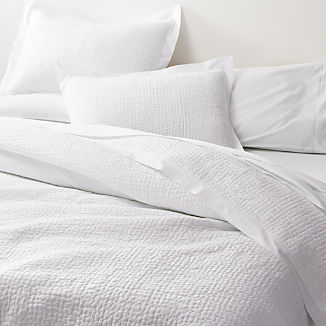 Celeste White Solid Quilts and Pillow Shams