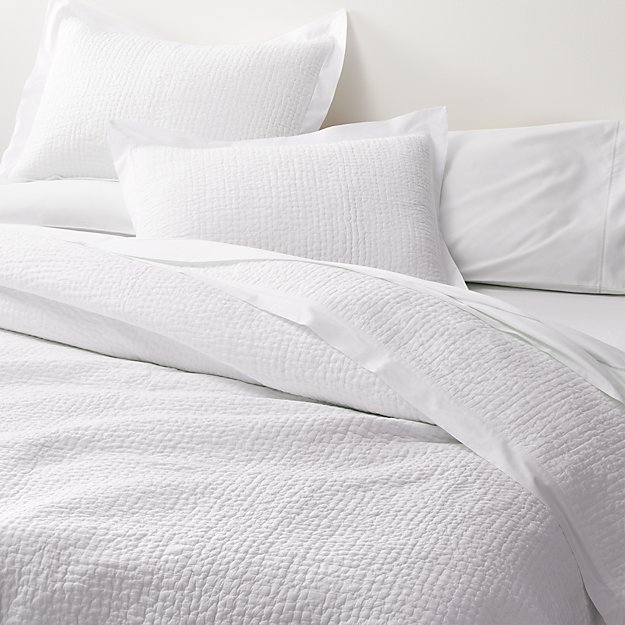 Celeste White Solid Quilts and Pillow Shams - Image 1 of 8
