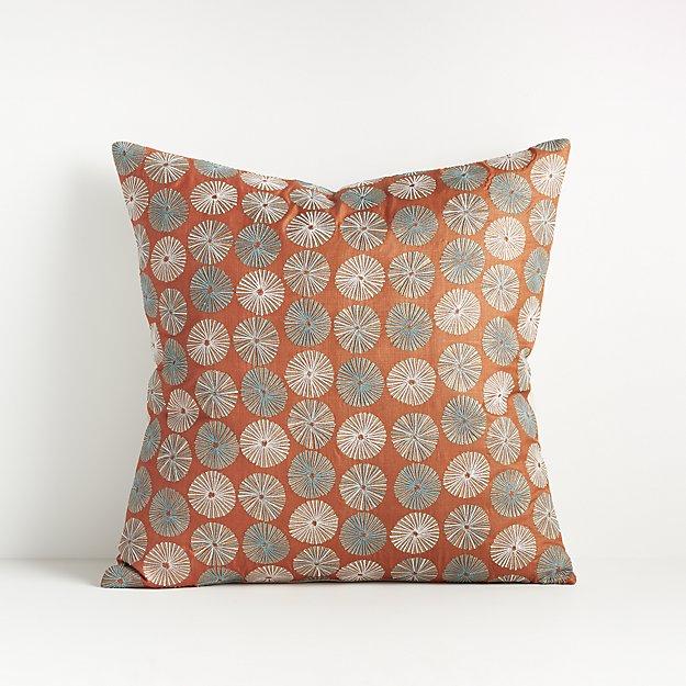 "Celina Burnt Orange Pillow 18"" - Image 1 of 6"