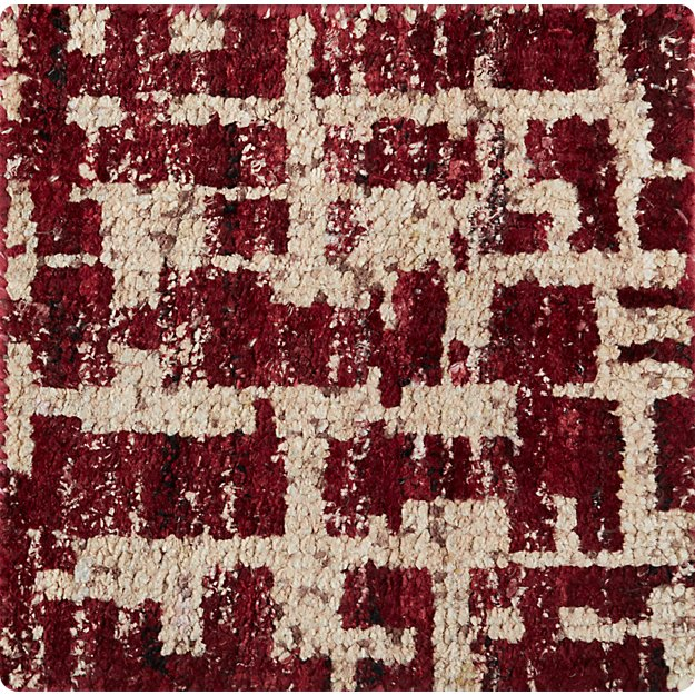 "Celosia Berry 12"" sq. Rug Swatch"