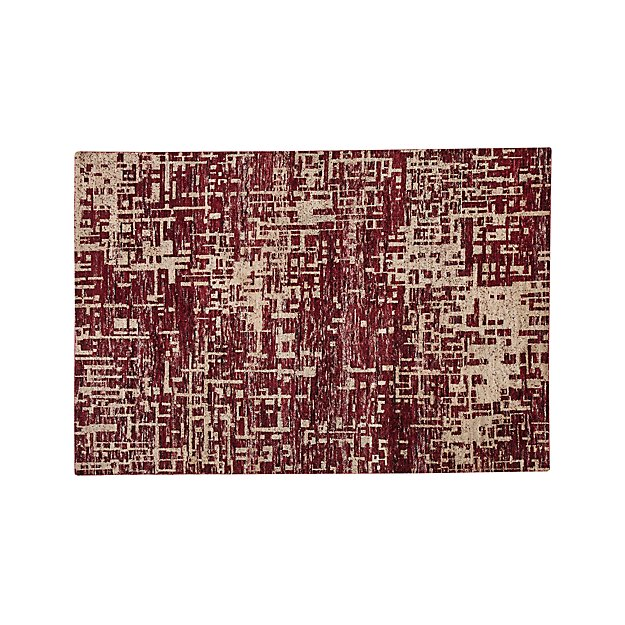 Celosia Berry Hand Knotted Rug 5 X8 Crate And Barrel