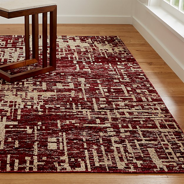 Celosia Berry Hand Knotted Rug Crate And Barrel