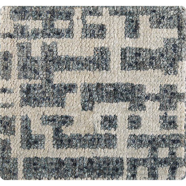 """Celosia Grey Hand Knotted 12"""" sq. Rug Swatch"""