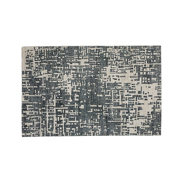 Celosia Grey Hand Knotted 5'x8' Rug