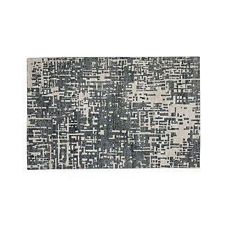 Celosia Grey Hand Knotted 6'x9' Rug