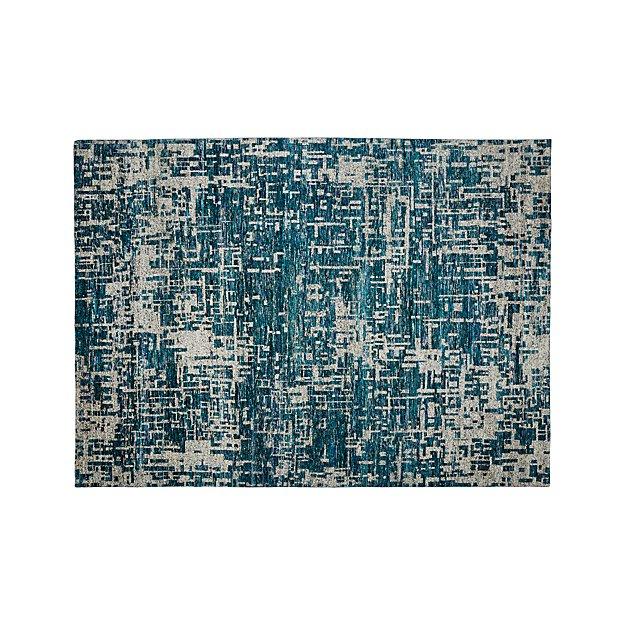 Celosia Indigo Blue Hand Knotted Rug 10'x14'