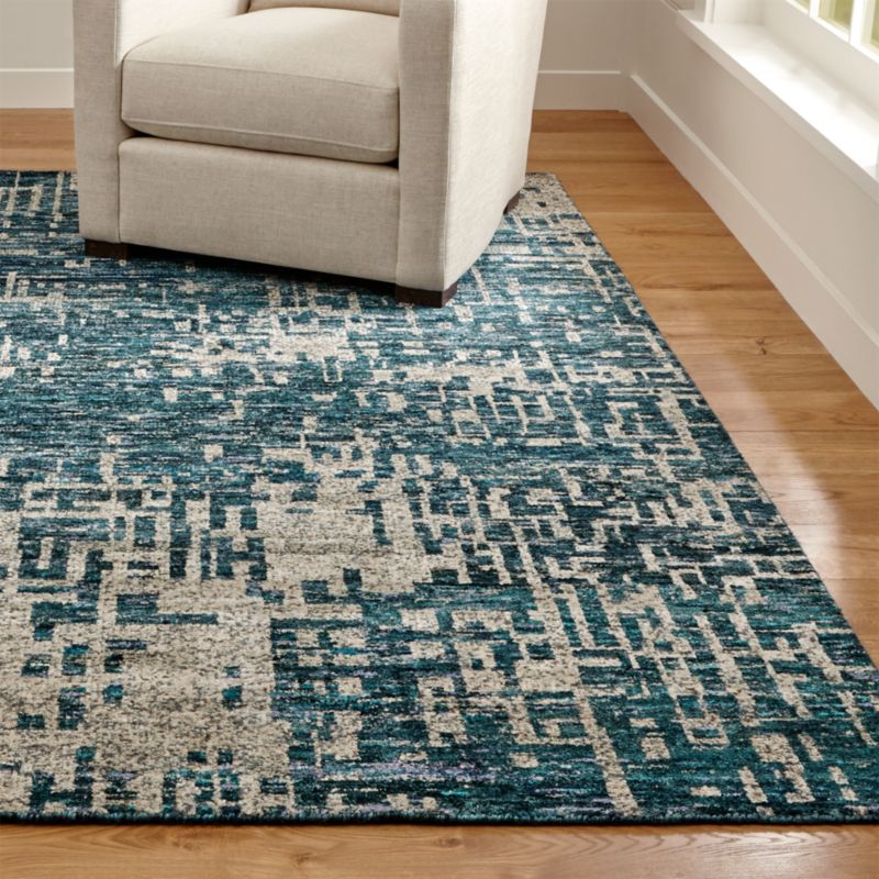 Celosia Indigo Blue Hand Knotted Rug Crate And Barrel