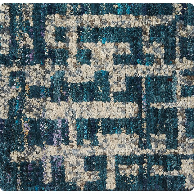 "Celosia Indigo Blue Hand Knotted 12"" sq. Rug Swatch"
