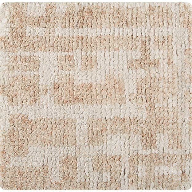"Celosia Natural Hand Knotted 12"" sq. Rug Swatch"