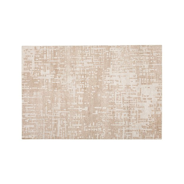 Celosia Natural Hand Knotted 5'x8' Rug