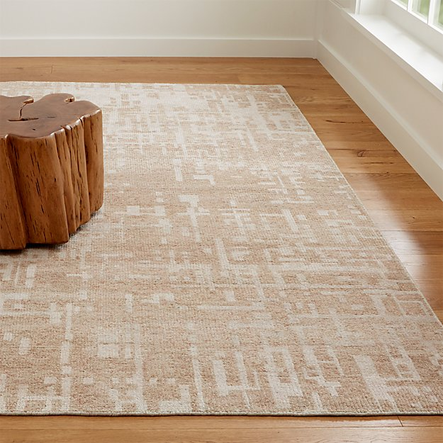 Celosia Natural Hand Knotted Rug