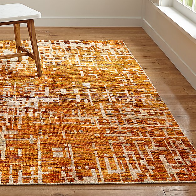 Celosia Orange Hand Knotted Rug Crate And Barrel