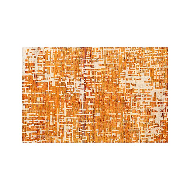 Celosia Orange Hand Knotted 6'x9' Rug